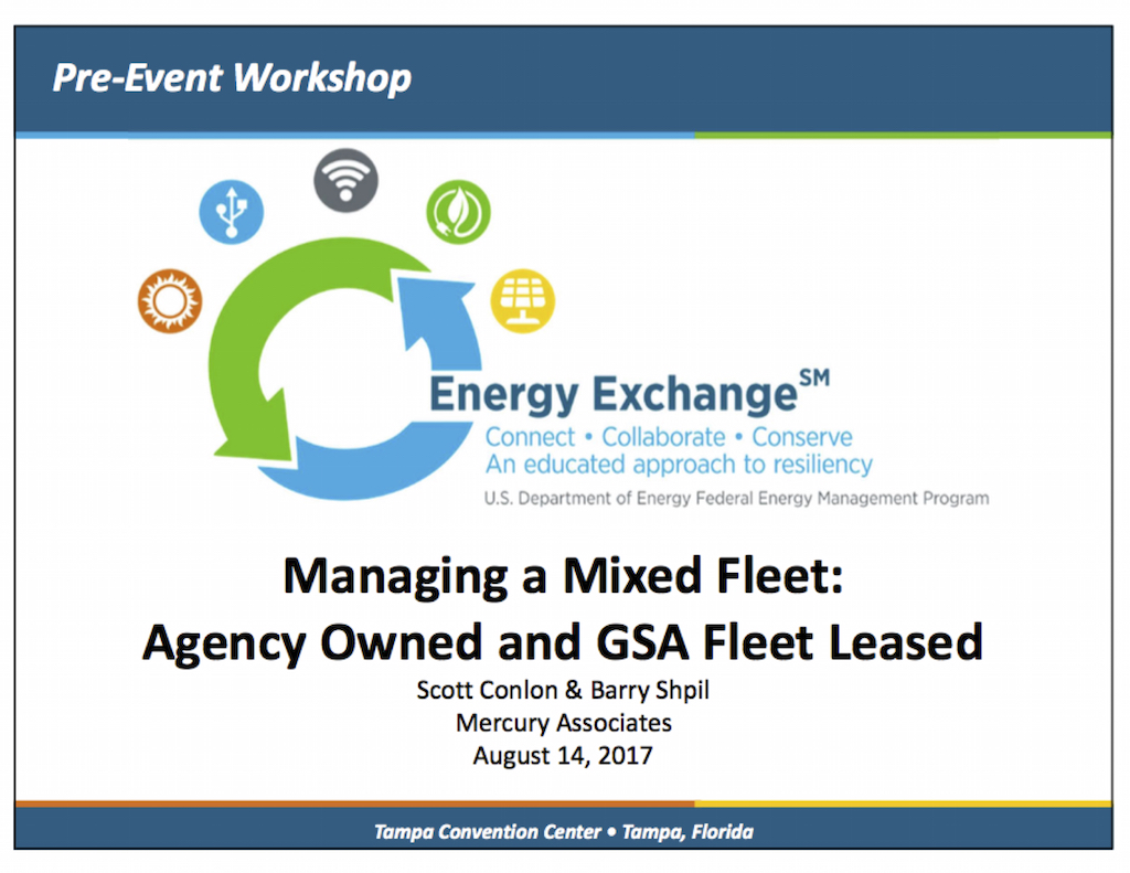 Managing a Mixed Fleet: Agency Owned and GSA Fleet Leased