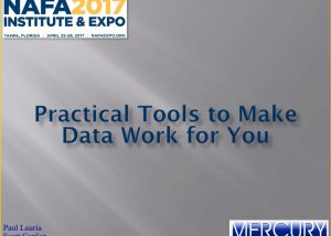 Practical Tools to Make Data Work for You